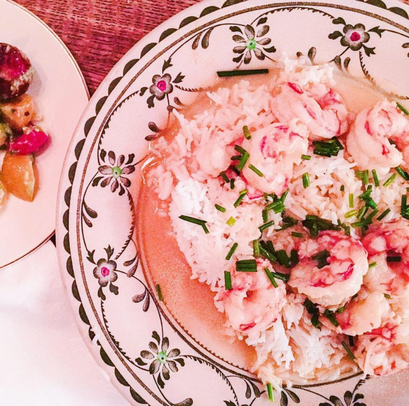 Shrimp Scampi with Rose Bubbly Butter