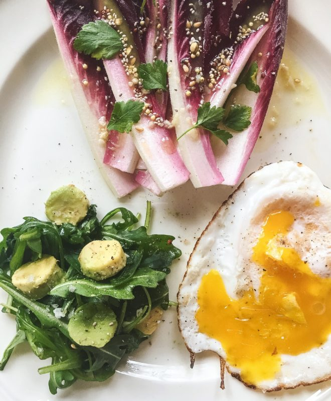 Duck Egg and Greens