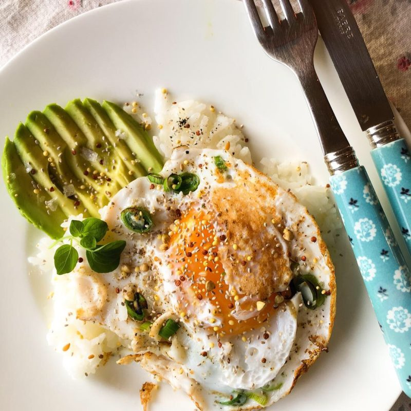 Duck Egg with Avocado