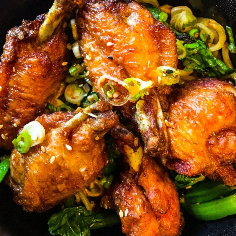 Chicken Wings Food Cart PDX Garlic Noodles