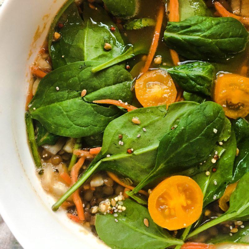 lentil spinach soup detox