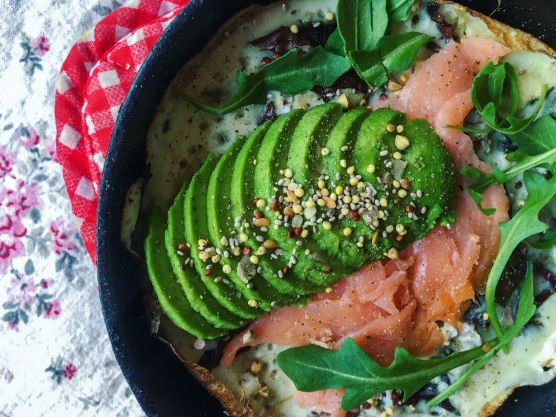 egg white avocado omelet