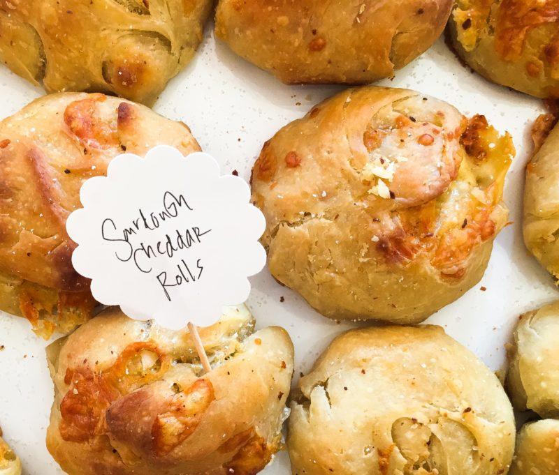 Sourdough Cheddar Rolls with Garlic