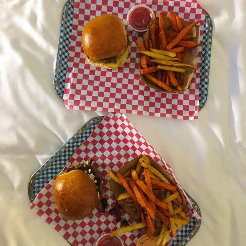 Hotel room burgers tray DC
