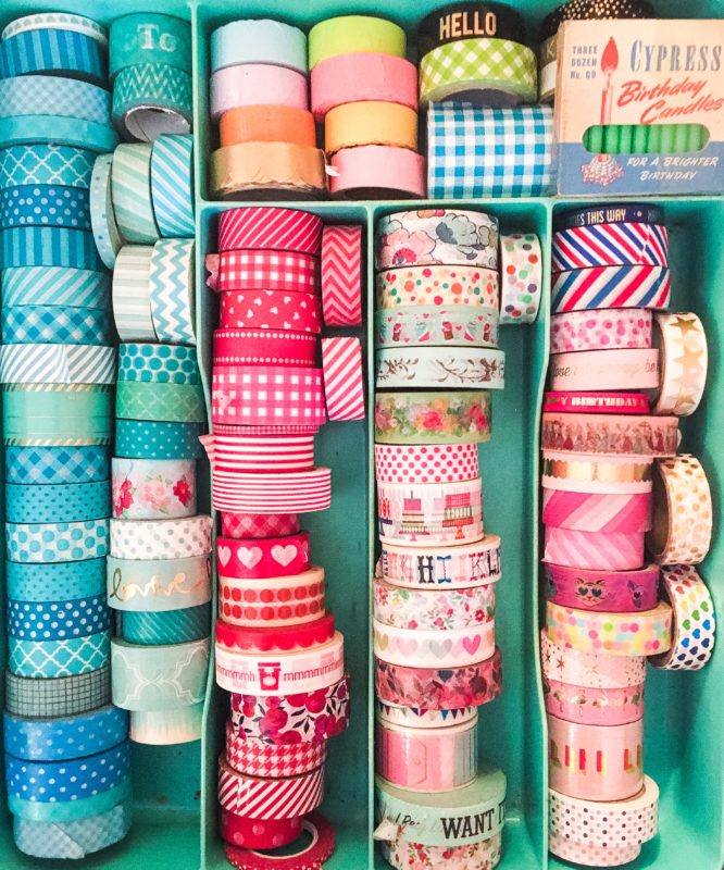 washi tape junk drawer