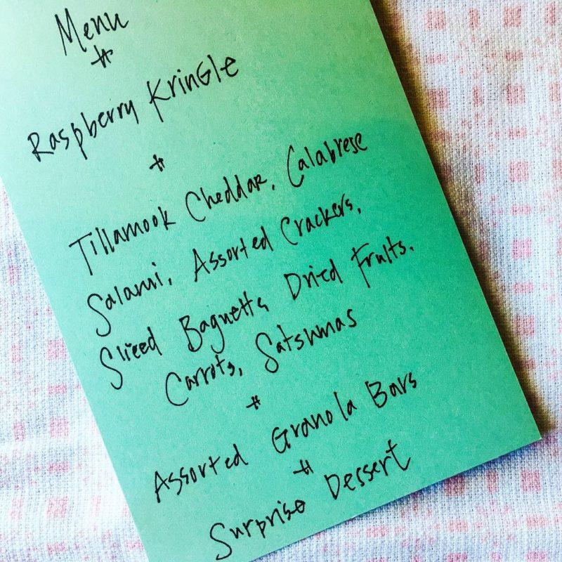 menu plane trip