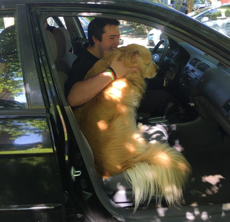 Porter in car