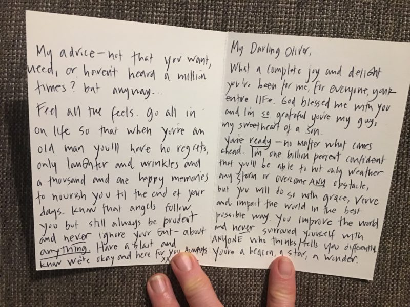 Card to Oliver