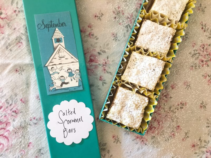 caramel bars with goodwill vintage sticker