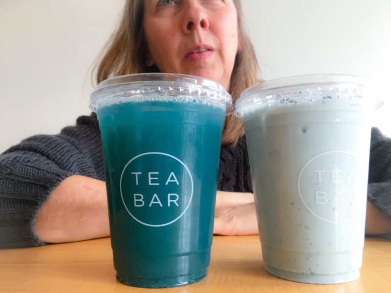 Blue Drinks with Lisa at Tea Bar