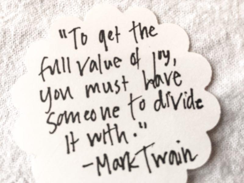 Joy Quote Mark Twain