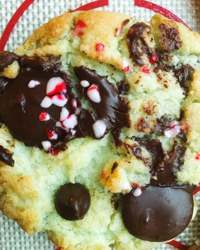 Mint Sugar Chocolate Chip Cookies