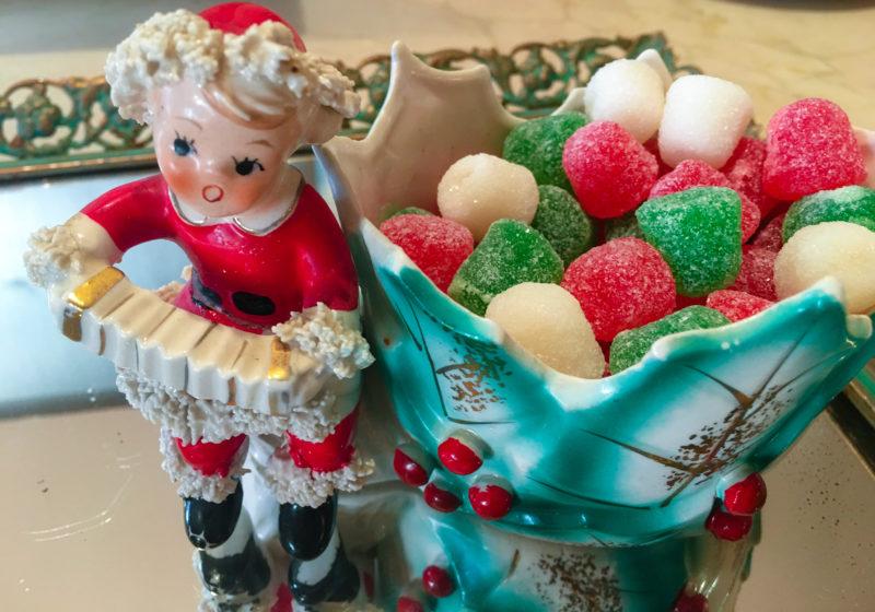 Vintage Christmas Dish