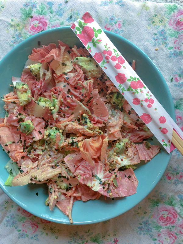 Pink Radicchio, Salmon and Avocado Salad
