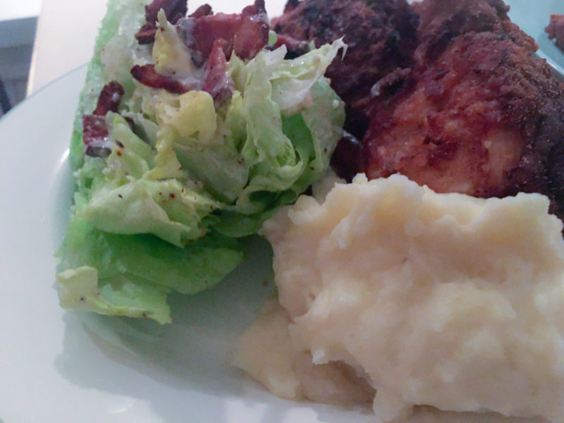 Wedge Salad, Fried Chicken, Mashed Potatoes