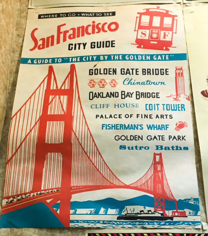 San Francisco Poster Vintage Inspired