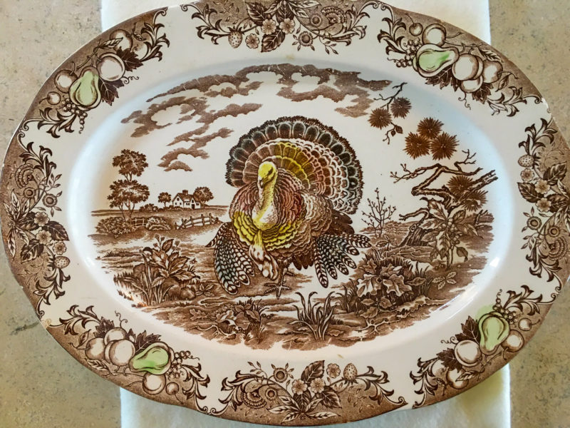 Vintage Japanese Porcelain Turkey Platter Goodwill Bins Outlet