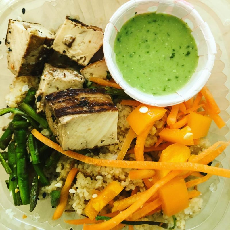 Tofu Couscous Bowl with Cilantro Dressing