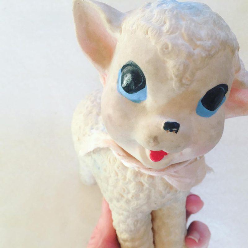 Vintage Lamb Toy SCRAP