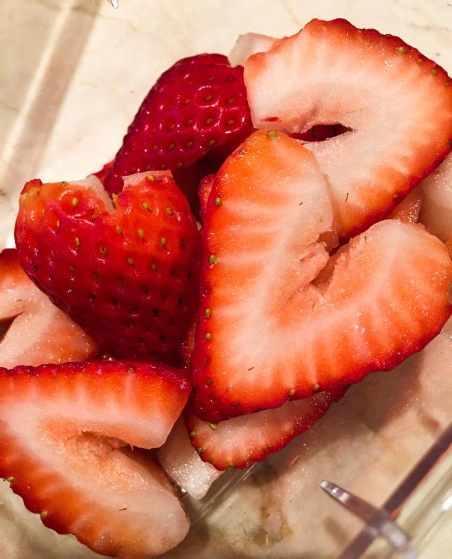 Strawberry Valentine hearts