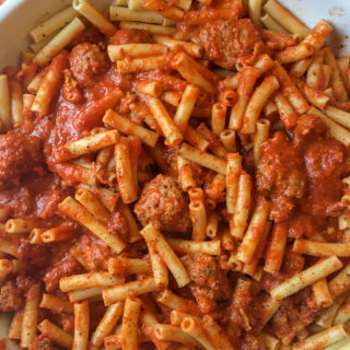 Pasta with Pork Meatballs