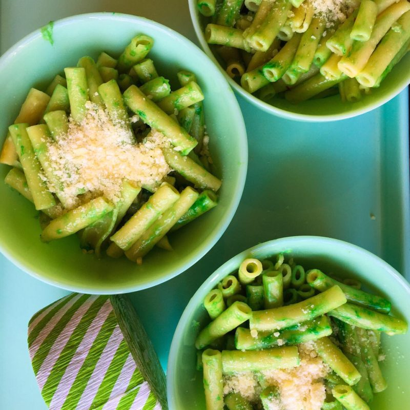 Pesto Pasta with St. Patrick's Day