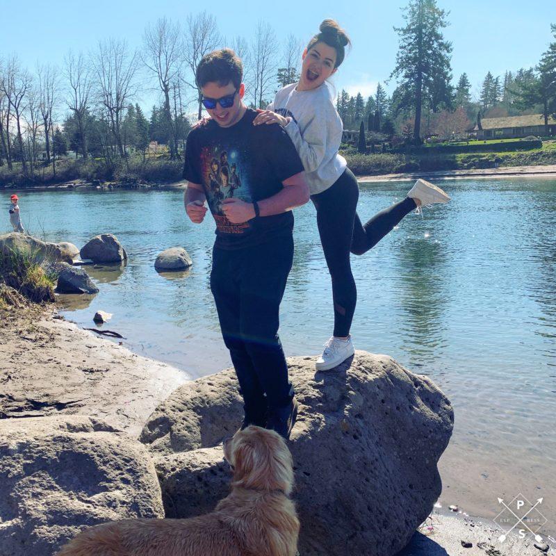 Oliver and Charlotte river