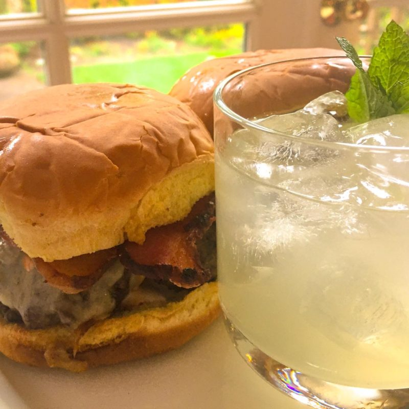 burgers and cocktails