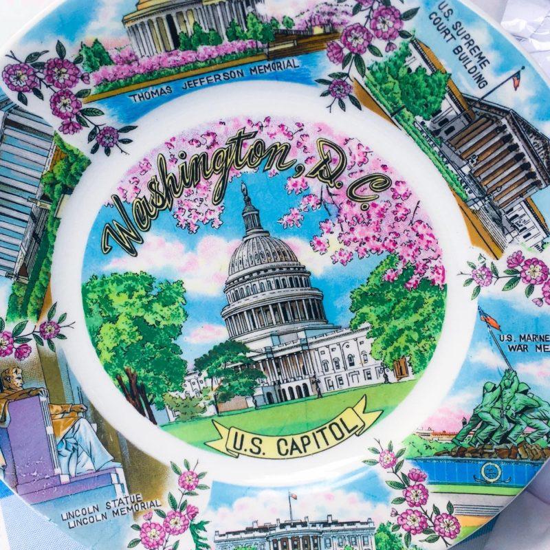 vintage DC plate birthday
