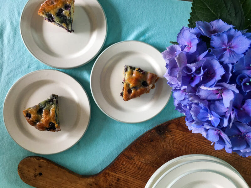 girls weekends blueberry cake